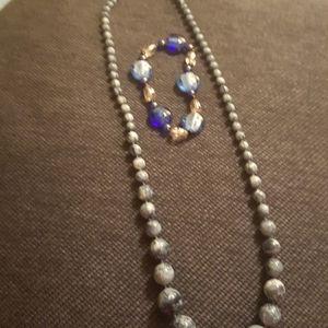 Jewelry - Graduated Blue Necklace